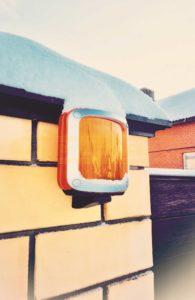 Сигнальная лампа на откатных воротах