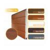 Алютех панель S - гофр, RAL8017, 9016,703, золотой и темный дуб
