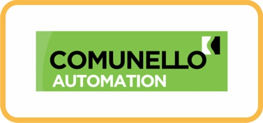 Логотип Comunello автоматика, шлагбаумы