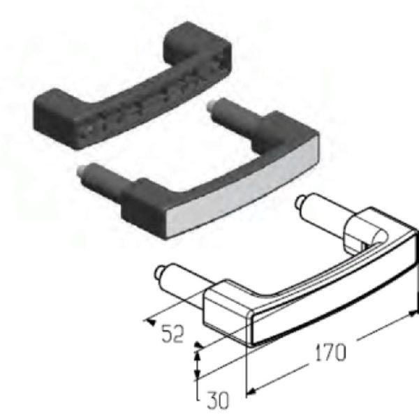 Ручка скоба HGI-40.006 ALUTECH