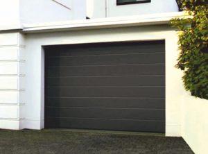 ворота в гараж алютех